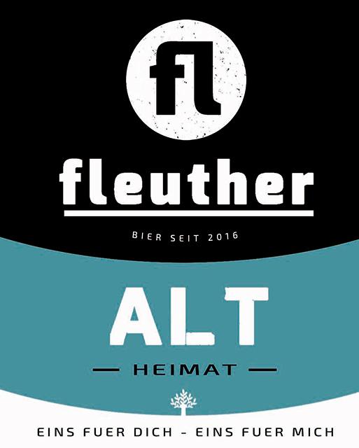 biersorte fleuther alt 2018 etikett