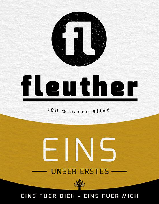 biersorte fleuther eins seit 2016 etikett