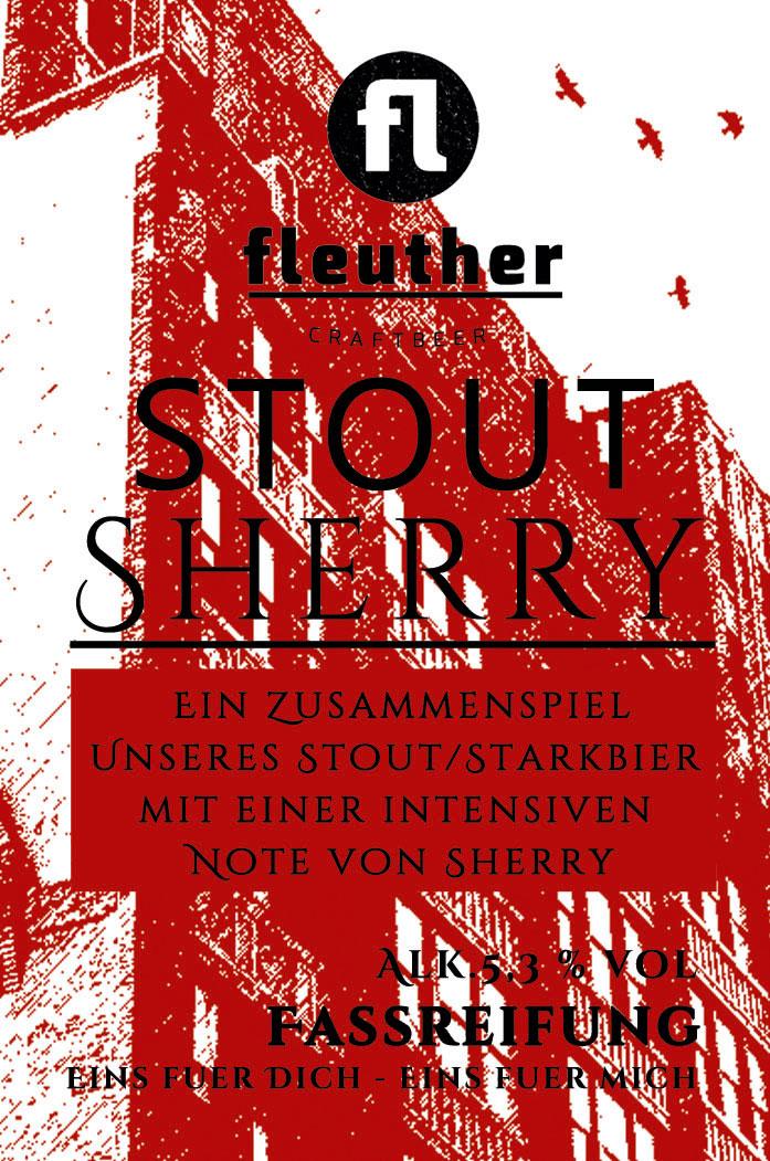 etikett stout sherry biersorte fleuther
