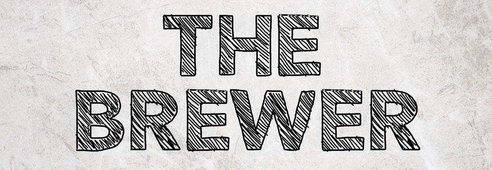 The Brewer Schriftzug