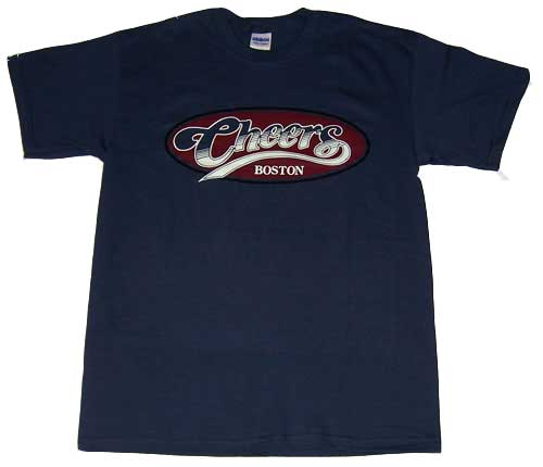Cheers Shirt blau retro