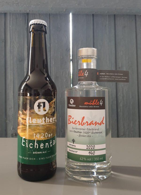 bierbrand und bier vom fleuther Brown Ale
